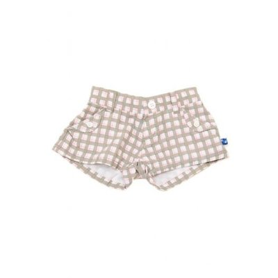Kickee Pants CHECKER SHORTS-GIRL.6Y