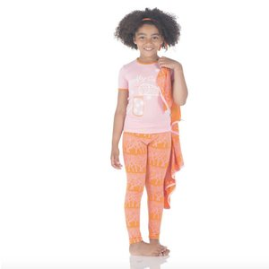 Kickee Pants Short Sleeve Pajama Set (Sunset Fireflies)