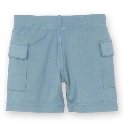 Kickee Pants Solid Cargo Short (Dusty Sky)