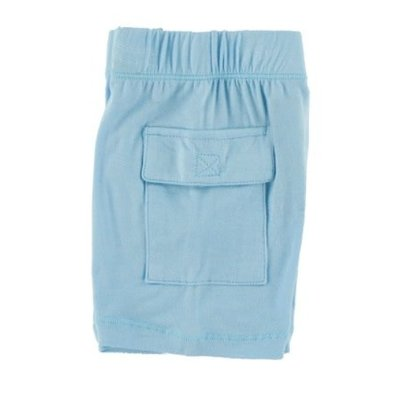 Kickee Pants Solid Cargo Short (Pond)