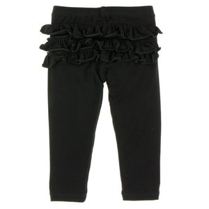 Kickee Pants Solid Ruffle Legging (Midnight)