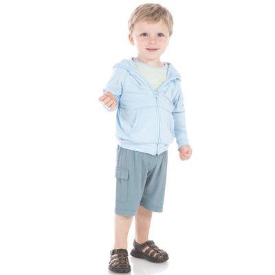 Kickee Pants Solid Zip-Front Hoodie (Pond)