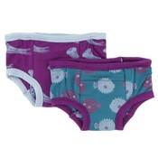 Kickee Pants Training Pants Set (Starfish Jellies & Seagrass Puffer)