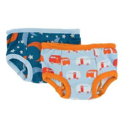 Kickee Pants Training Pants Set (Twilight Moon and Stars & Pond Camper)