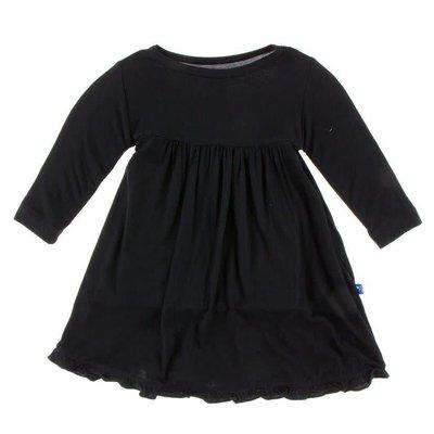 Kickee Pants Basic Classic Long Sleeve Swing Dress (Midnight)