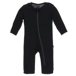 Kickee Pants Basic Coverall with Zipper (Midnight)