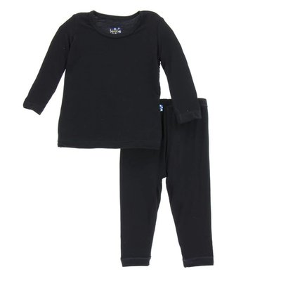 Kickee Pants Basic Long Sleeve Pajama Set (Midnight)