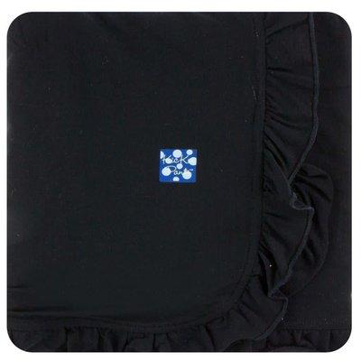 Kickee Pants Basic Ruffle Stroller Blanket (Midnight - One Size)