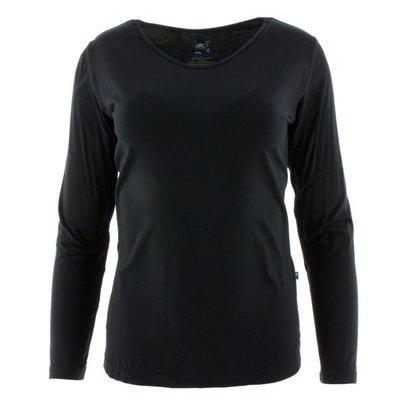 Kickee Pants Basic Women's Long Sleeve One Tee (Midnight)