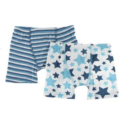 Kickee Pants Boxer Briefs Confetti Anniversary Stripe & Confetti Star