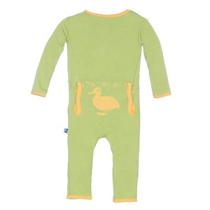 Kickee Pants Holiday Fitted Applique Coverall (Meadow Duck)