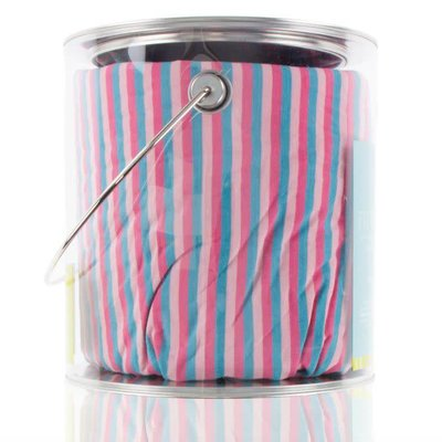 Kickee Pants Print Fitted Crib Sheet (Flamingo Anniversary Stripe - One Size)