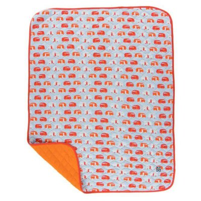 Kickee Pants Print Quilted Stroller Blanket (Pond Camper - One Size)