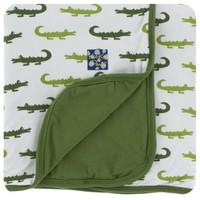 Kickee Pants Print Stroller Blanket (Natural Crocodile - One Size)