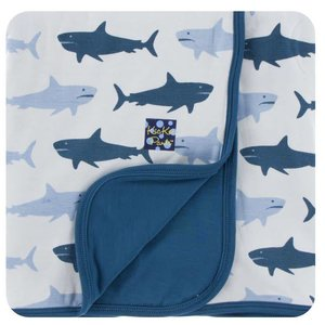 Kickee Pants Print Stroller Blanket (Natural Megalodon - One Size)