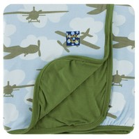 Kickee Pants Print Stroller Blanket (Pond Airplanes - One Size)