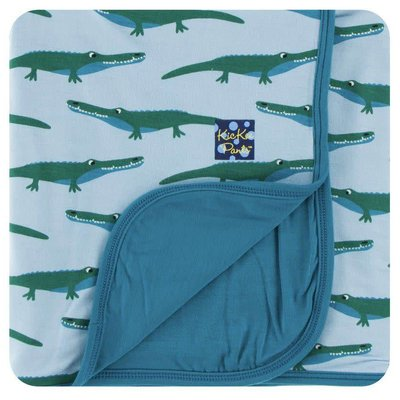 Kickee Pants Print Stroller Blanket (Pond Crocodile - One Size)
