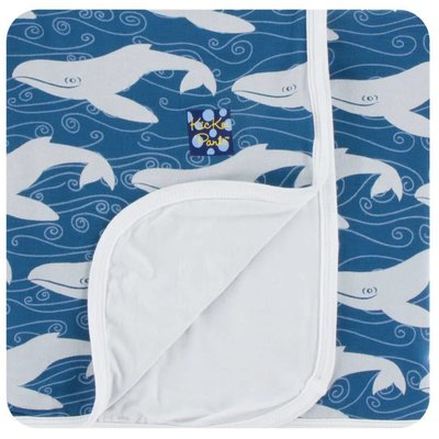 Kickee Pants Print Stroller Blanket (Twilight Whale - One Size)