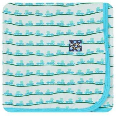 Kickee Pants Print Swaddling Blanket (Aloe Ants - One Size)