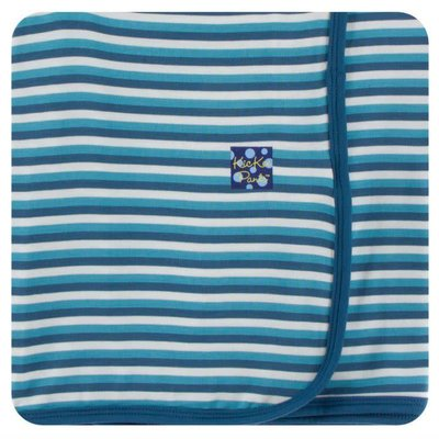 Kickee Pants Print Swaddling Blanket (Confetti Anniversary Stripe - One Size)