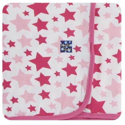 Kickee Pants Print Swaddling Blanket (Flamingo Star - One Size)