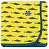 Kickee Pants Print Swaddling Blanket (Lemon Shark - One Size)