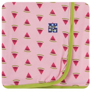 Kickee Pants Print Swaddling Blanket (Lotus Watermelon - One Size)