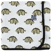 Kickee Pants Print Swaddling Blanket (Natural Butterflyfish - One Size)