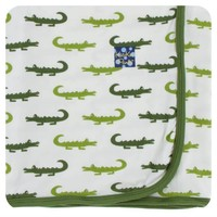 Kickee Pants Print Swaddling Blanket (Natural Crocodile - One Size)