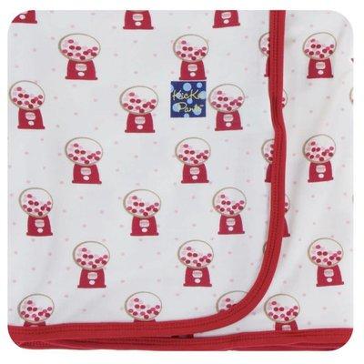 Kickee Pants Print Swaddling Blanket (Natural Gumball Machine - One Size)