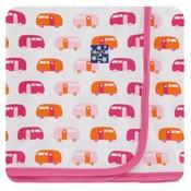 Kickee Pants Print Swaddling Blanket (Natural Camper - One Size)