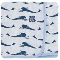 Kickee Pants Print Swaddling Blanket (Natural Mermaid - One Size)