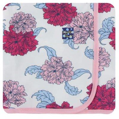 Kickee Pants Print Swaddling Blanket (Natural Peony - One Size)