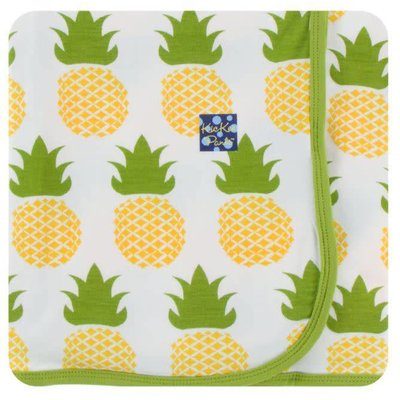 Kickee Pants Print Swaddling Blanket (Natural Pineapple - One Size)