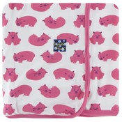 Kickee Pants Print Swaddling Blanket (Natural Wombat - One Size)