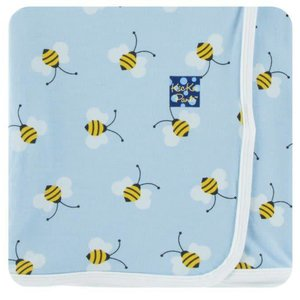 Kickee Pants Print Swaddling Blanket (Pond Bees - One Size)
