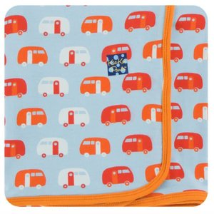 Kickee Pants Print Swaddling Blanket (Pond Camper - One Size)