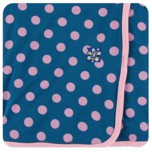 Kickee Pants Print Swaddling Blanket (Twilight Dot - One Size)