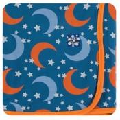 Kickee Pants Print Swaddling Blanket (Twilight Moon and Stars - One Size)