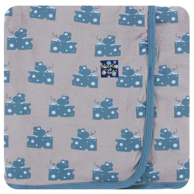 Kickee Pants Print Swaddling Blanket (Feather Mouse and Cheese)