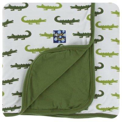 Kickee Pants Print Toddler Blanket (Natural Crocodile - One Size)
