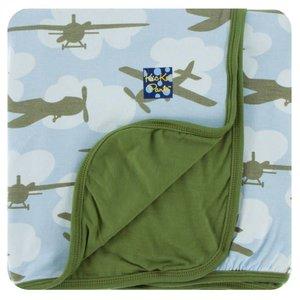 Kickee Pants Print Toddler Blanket (Pond Airplanes - One Size)