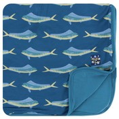 Kickee Pants Print Toddler Blanket (Twilight Dolphin Fish - One Size)