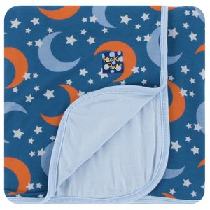 Kickee Pants Print Toddler Blanket (Twilight Moon and Stars - One Size)