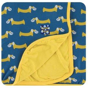 Kickee Pants Print Toddler Blanket (Twilight Pretzel Pup - One Size)