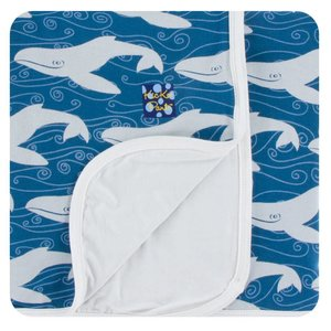 Kickee Pants Print Toddler Blanket (Twilight Whale - One Size)