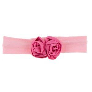 Kickee Pants Solid Flower Headband (Lotus with Flamingo - One Size)