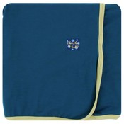 Kickee Pants Solid Swaddling Blanket (Peacock with Willow - One Size)