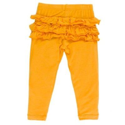 Kickee Pants Solid Ruffle Legging (Fuzzy Bee)
