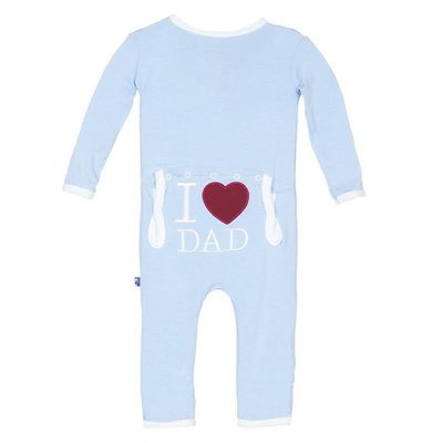 Kickee Pants Pond I Love Dad Fitted Coverall
